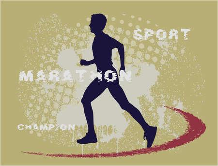 jogging track: sprinter grunge set