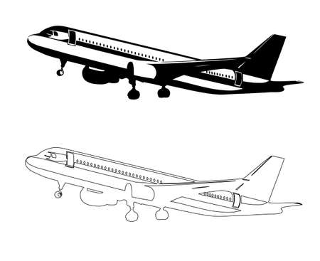 plane drawing Vector