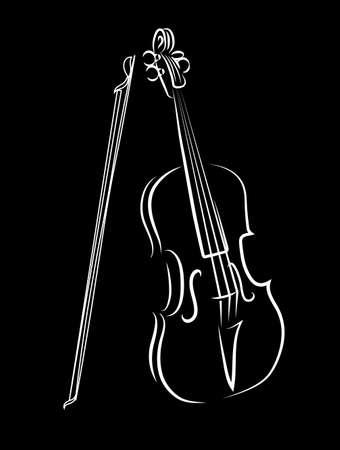 violines: viol�n Vectores