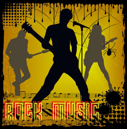 rock musicians Stock Vector - 16007577