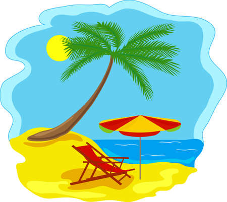 caribbean beach: tropical beach Illustration