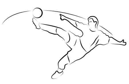 running: football player kicking the ball