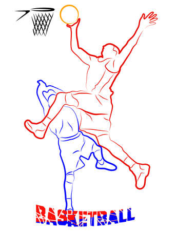 basketball game Stock Vector - 16007595