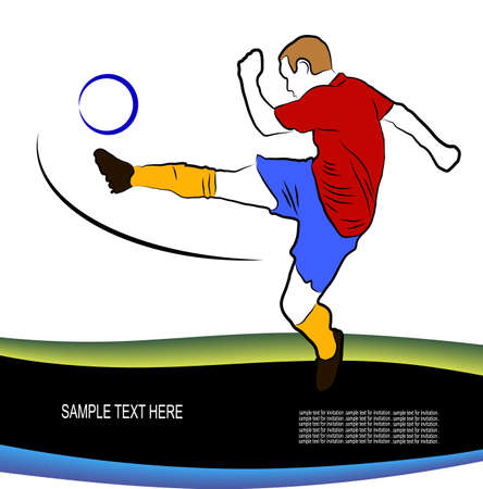 body painting: football player kicking the ball