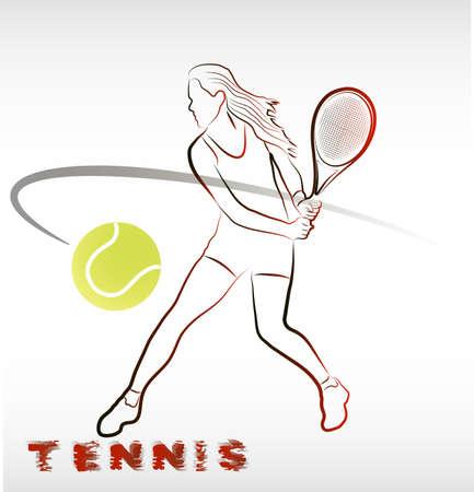 tennis girl: playing tennis