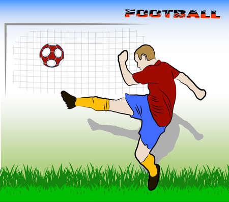 kicking ball: football player kicking the ball