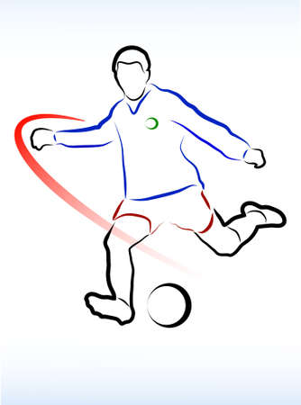 futbol soccer dibujos: gente jugando al fútbol