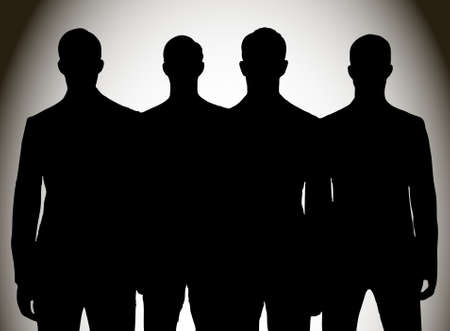 security staff: silhouette of group of people Illustration