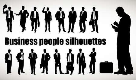 crossed arms: silhouette of the businessman