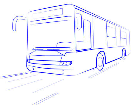 passenger Bus Stock Vector - 16007546