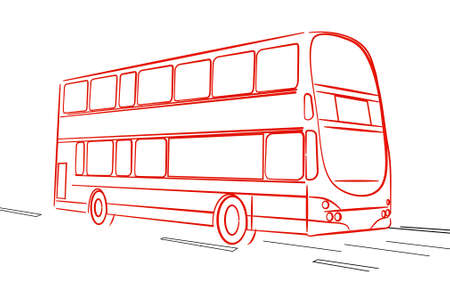 londres autobus: Autob�s de Londres Vectores