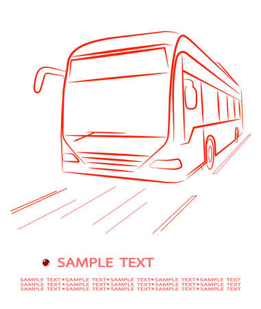 passager: Bus de passagers Illustration