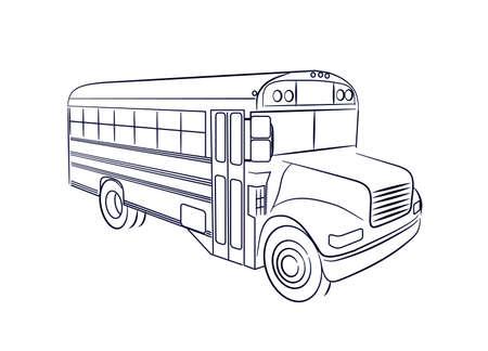 viagem: ônibus escolar Ilustração