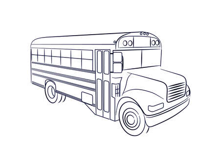 transportation silhouette: school Bus