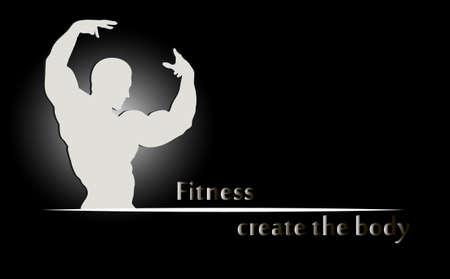 muscular build: bodybuilding Illustration