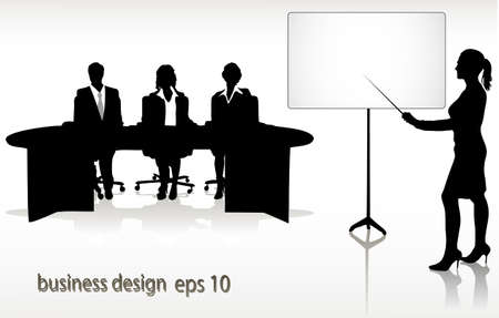 the instructor: presentation Illustration