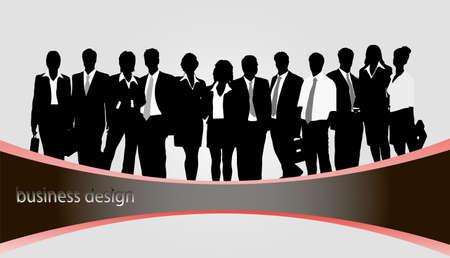 siluetas de los hombres de negocios Ilustración de vector