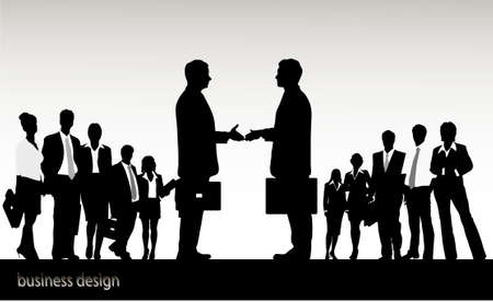 on the image the meeting of two businessmen is presented Stock Vector - 16102993