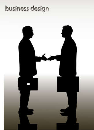 on the image the meeting of two businessmen is presented Vector