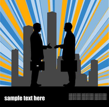 on the image the meeting of two businessmen is presented Stock Vector - 16102997