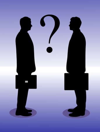 business between the question mark Stock Vector - 16215179