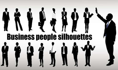 professions: silhouettes of businessmen