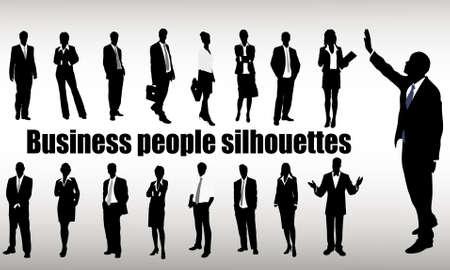profesiones: siluetas de los hombres de negocios