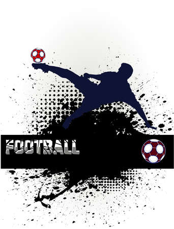 soccer pass: football player Illustration