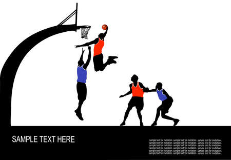 team game in basketball Vector