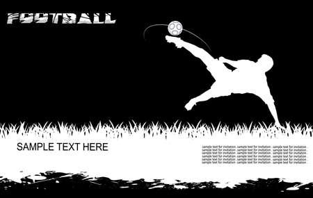 futbol soccer dibujos: la persona que golpea la bola
