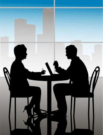 business meeting asian: r�union d'affaires Illustration