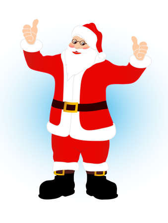 fiftieth: on the image cheerful Santa Claus is presented
