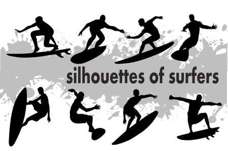en la imagen de la silueta de los surfistas se presenta