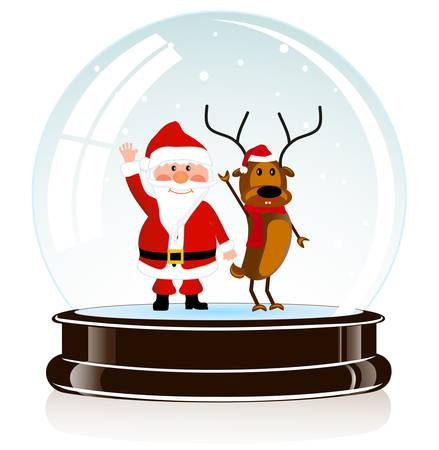 on the image the sphere with Santa Claus and a deer of eps 10 is presented Stock Vector - 16579009