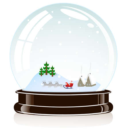 glass dome: on the image the sphere a Christmas toy is presented