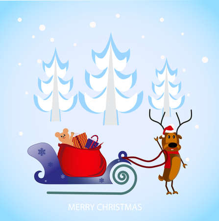 on the image the cheerful Christmas deer is presented Vector
