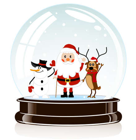 christal: on the image the sphere with Santa Claus Illustration