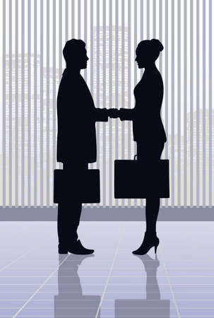 salesmen: on the image the meeting of businessmen is presented