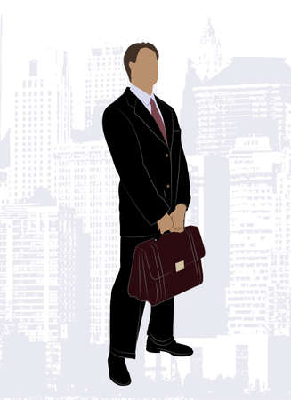 on the image drawing of the businessman is presented Vector