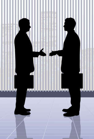 on the image the meeting of businessmen is presented Vector