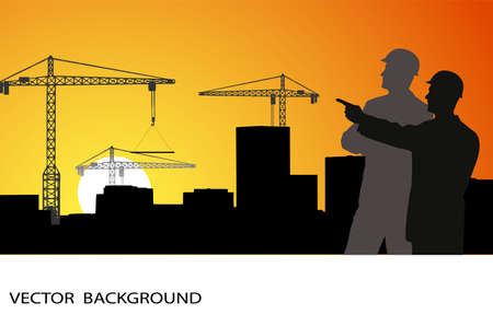 building safety: on the image are presented the engineer against construction