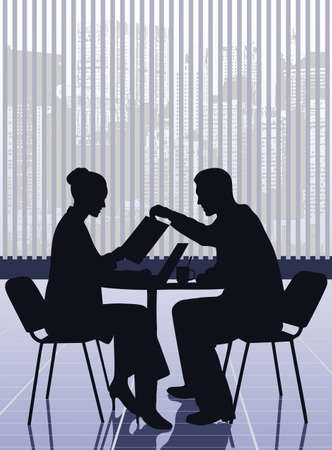 business meeting: on the image the business meeting of businessmen is presented
