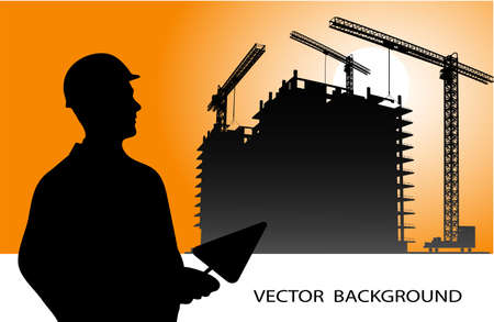 on the image the industrial background is presented Vector