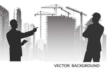 construction tools: on the image are presented the engineer against construction