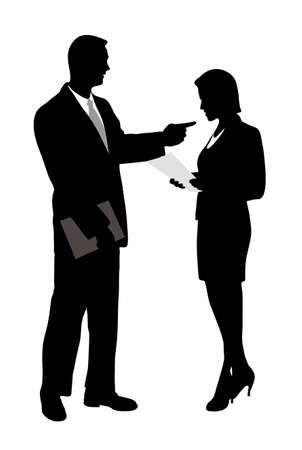 on the image the business meeting is presented Illustration