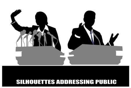 spokesman: person before a microphone