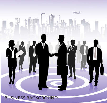 business building: business background