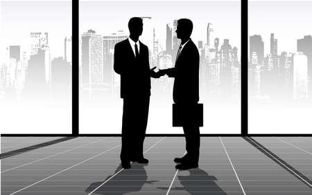 meeting of businessmen Stock Vector - 17442746