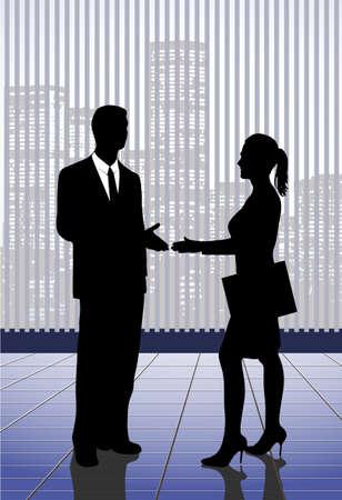 meeting of businessmen Vector