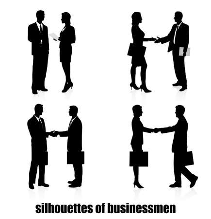 businesswoman skirt: on the image the meeting of businessmen is presented